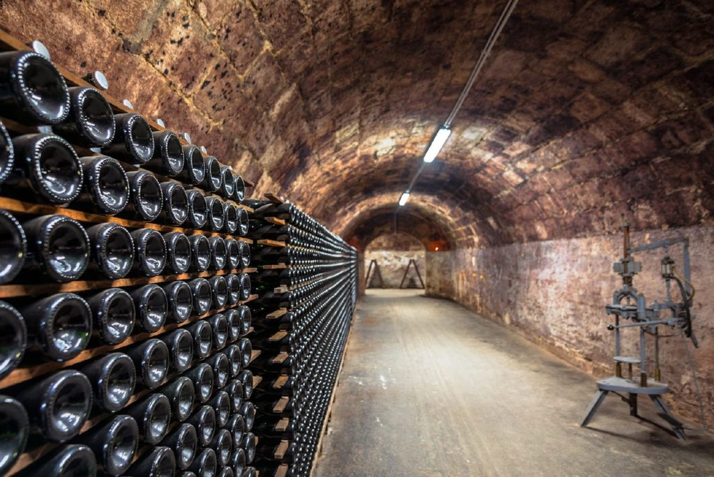 Champagne Cellar Finding France